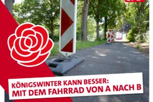 Radwege in Königswinter